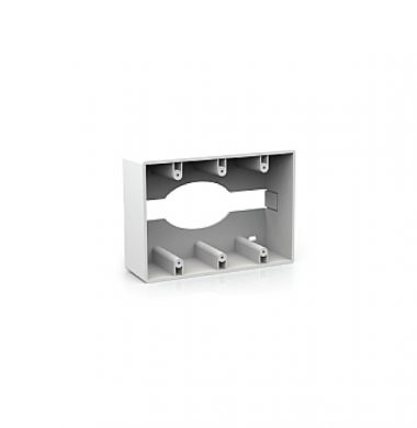 US Style 3 Gang Surface Mount Box – 57mm Depth