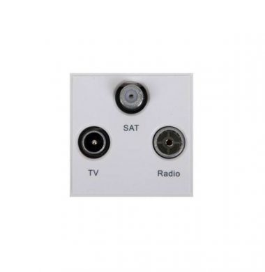 Triax 304262 Triplex TV/SAT/FM-DAB Outlet Module