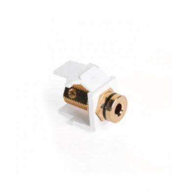 Leviton 40837-BWE QuickPort Snap-In 4mm Speaker Socket