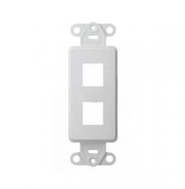 Leviton 40850-BW QuickPort Decora 2-Port Insert