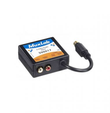 MuxLab 500017 Stereo Audio with S-Video Balun