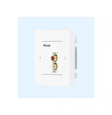 MuxLab 500028-WP Stereo HiFi Wall Plate Balun (Pair)