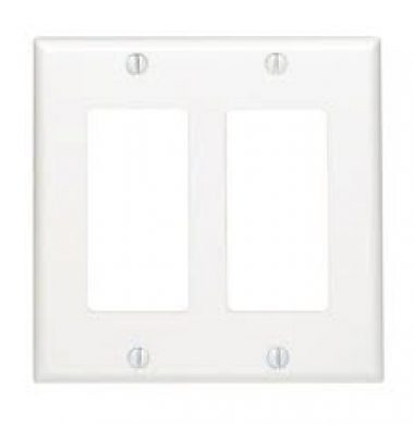 Leviton 80409-W US Style Double Gang Decora Faceplate