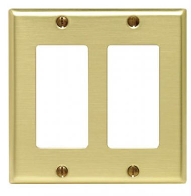 Leviton 81409 US Style Double Gang Decora Faceplate