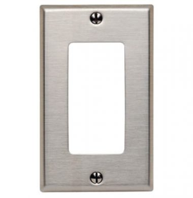 US style Decora Faceplate – Stainless Steel 1 Gang