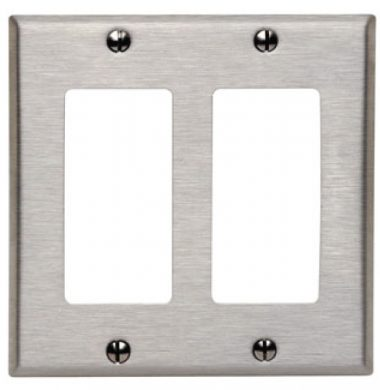 US style Decora Faceplate – Stainless Steel 2 Gang