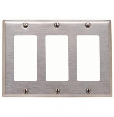 US style Decora Faceplate – Stainless Steel 3 Gang