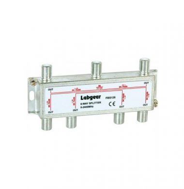 Labgear FBS126 6 Way Splitter, Ultra Wide Band