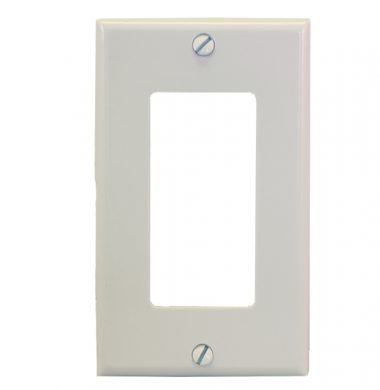 Leviton 80401-NW US Style Single Gang Decora Faceplate