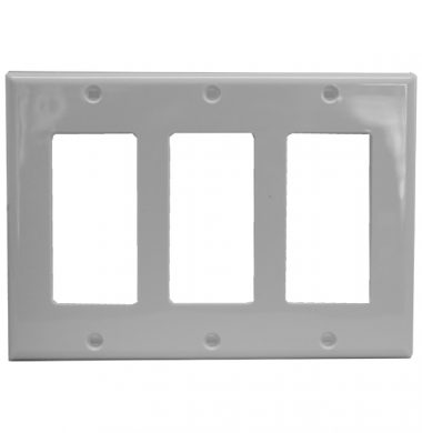 Leviton 80411-W US Style Triple Gang Decora Faceplate