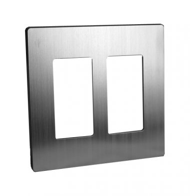 Lutron SWP-2-SS US Style Single Gang Screwless Wallplate