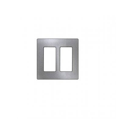 Lutron SWP2-SS US Style Double Gang Screwless Wallplate