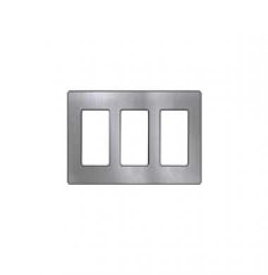 Lutron SWP3-SS US Style Triple Gang Screwless Wallplate