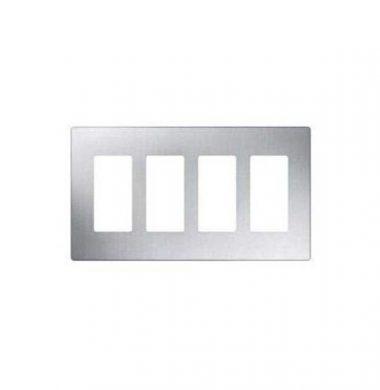 Lutron SWP4-SS US Style Four Gang Screwless Wallplate
