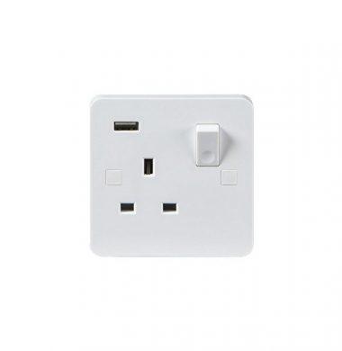 Pure Single Gang- USB Charging Socket