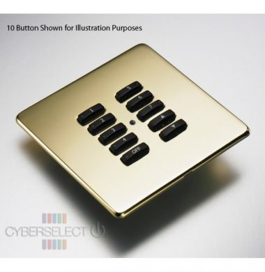 Rako RLF-070-PB Faceplate for RCM and RNC Series Keypads