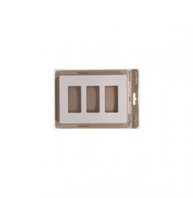 Lutron SWP-3 US style Triple Gang Screwless Wallplate
