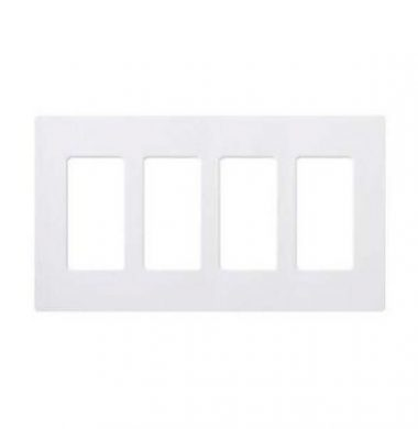 Lutron SWP-4 US Style Four Gang Screwless Wallplate