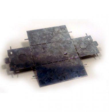 UK Double Gang Metal Flat Pack Back Box 67mm depth
