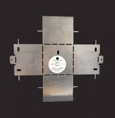 UK Single Gang Metal Flat Pack Back Box 67mm depth