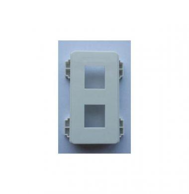 Leviton QuickPort 2-Port Decora Insert for UK Faceplate