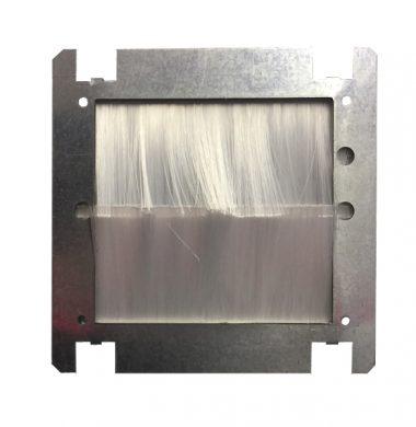 Single UK Brush Adapter Plate (White)