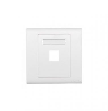 Levtion BL186-P1W Excella QuickPort Wallplate 1-Port