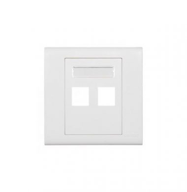 Leviton BL186-P2W Excella QuickPort Wallplate 2-port