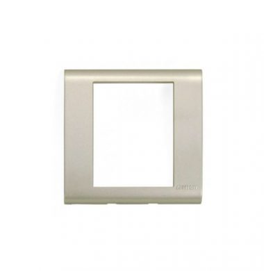 Leviton BLWP1-CHG Excella UK Wallplate Frame (Champaign Gold)