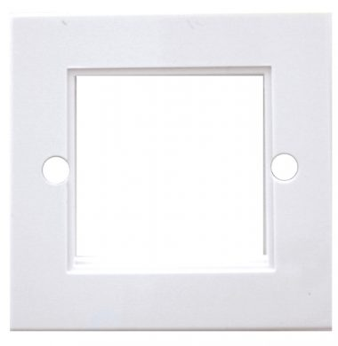 UK Style Single Gang Full Module White Plastic Face Plate