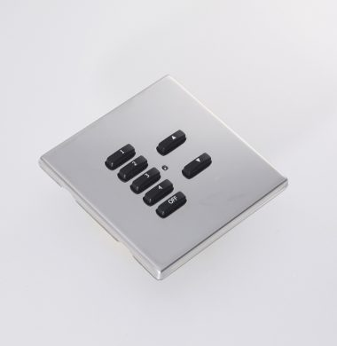 Rako RLM FocusSB Wireless Cover Plate Polished Stainless Steel