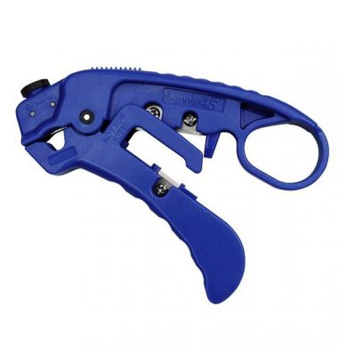 Simply45 Professional Adjustable Cat Cable Stripper & Cutter, Blue, Each