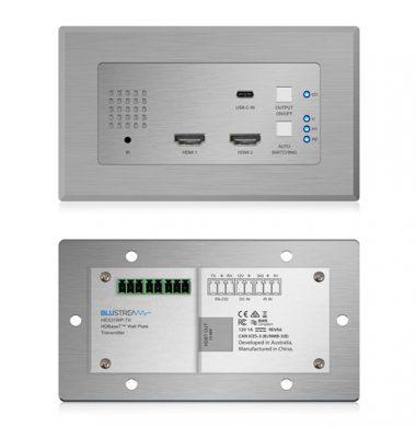 Blustream HEX31WP-TX 2 x HDMI & 1 x USB-C Wall Plate HDBaseT™ Transmitter