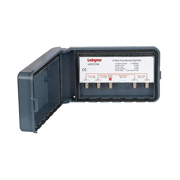 Labgear LMCS104 4 Way Combiner-Splitter