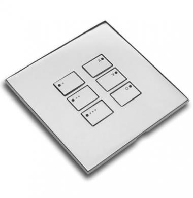 Rako WP-EOS-6 Cover Plate Wired – Polished Chrome